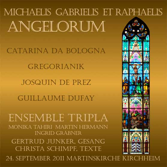 CD-Cover 'Michaelis, Gabrielis,Raphaelis' 2011