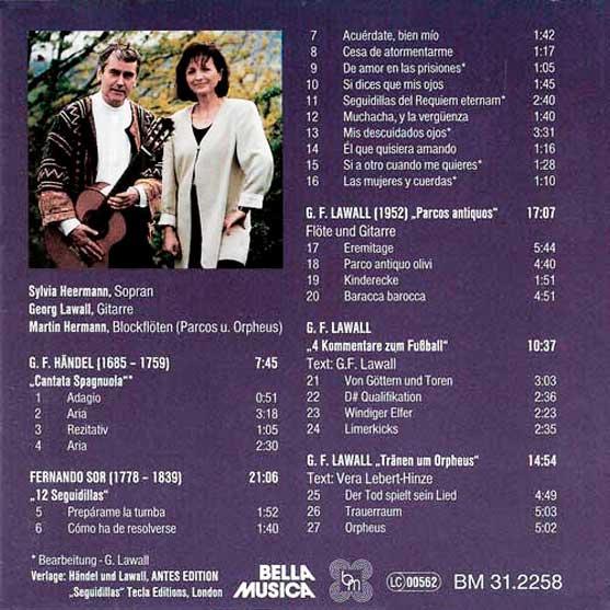 CD-Inlay Heermann singt Händel - Sor - Lawall