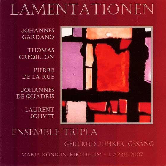 CD-Cover 'Lamentationen' 2007