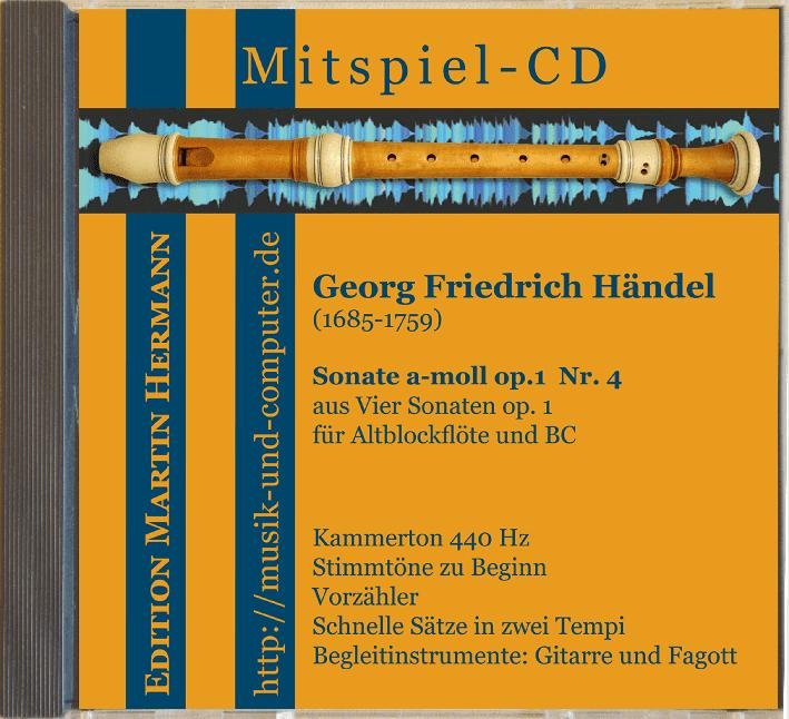 Mitspiel-CD Cover Händel Sonate a-moll
