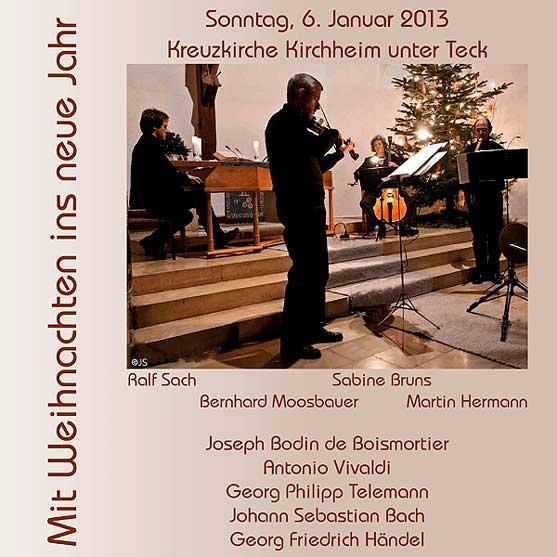 CD-Cover Mit Weihnachten ins neue Jahr 2013