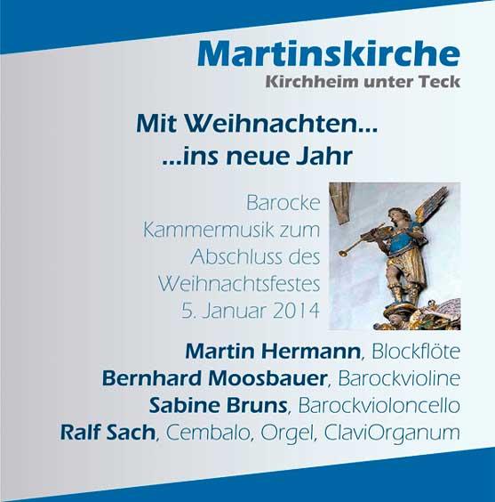 CD-Cover Mit Weihnachten ins neue Jahr 2014