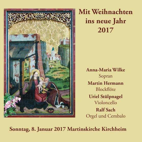 CD-Cover Mit Weihnachten ins neue Jahr 2017