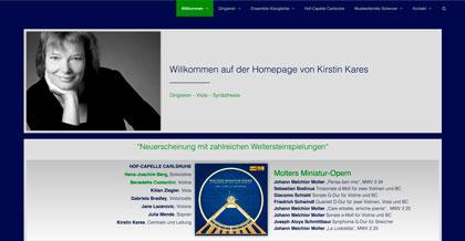 Startseite Homepage Kirstin Kares