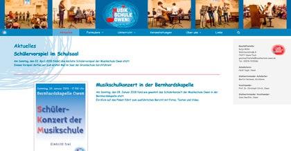 Startseite Homepage Musikschule Owen