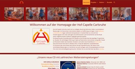 Homepage der Hofcapelle Carlsruhe